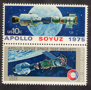 US. Apollo & Soyuz Space Test Project & after Link-up, and Earth. MNH. 1975