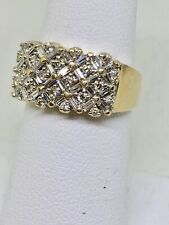 14kt. Yellow Gold  One ct.Diamond Ring Band Baguettes Rounds 50 Diamonds F VS!!