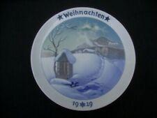 Rosenthal Germany Christmas Plate 1929 Weihnachten Alps Mountain Heinrich Fink