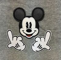 DISNEY - MICKEY MOUSE Embroidered Iron On Badge Applique Patch