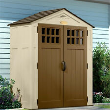 6x3 Suncast Adlington Five Double Door Plastic Garden Storage Apex Shed