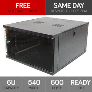 6U Server Rack Network Cabinet 19 inch 540 x 600mm Black