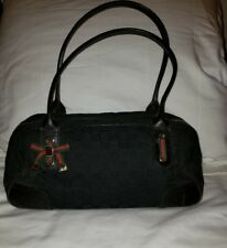GUCCI Black Monogram Canvas Princy Boston Bag