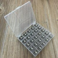 25 Stk Nähmaschinenspulen Metall mit Spulenbox Nähmaschine Spulen Nähspulen 20mm
