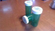 30 NEW Empty Rx Prescription Bottles Safety Cap 13 Dram Storage Container