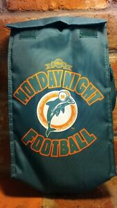 "ABC Monday Night Football Vtg Miami Dolphins Sporys Insulated Bag 11"" NFL LA Rue"