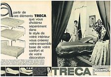 F- Publicité Advertising 1964 (2 pages) Matelas Lit Sommier Tréca