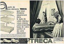 Publicité Advertising 1964 (2 pages) Matelas Lit Sommier Tréca
