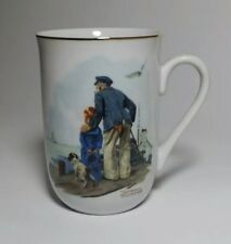 """Norman Rockwell """"Looking Out To Sea"""" Coffee Mug Tea Cup 1985 Museum Collections"""