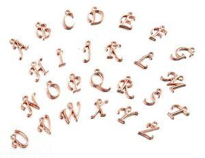 Letter Alphabet Initial Charm A-Z Rose Gold Dangle Wholesale Pendant Bulk Lot