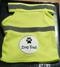 Dog Dad Safety Reflective Vest Small Med Large Dog Vest Supports Charity