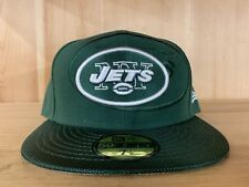 NEW ERA NEW YORK JETS  FITTED HAT GREEN WHITE NFL 59FIFTY MEN SIZE 7-8