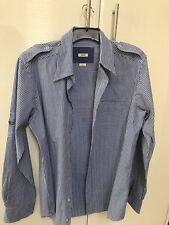Mavi Men's Shirt Blue White Check Size Small Men's 100% Cotton BNWOT