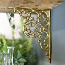 Single Polished Brass Spiders Web Design Wall Or Shelf Bracket