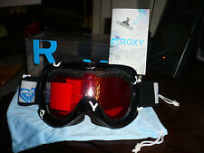 roxy snowboard goggles NIP Black with Pink/Rose Lense
