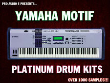 Yamaha Motif Platinum Drums .wav Samples - Download - Kicks Snares Percussion