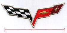 Corvette Racing Team Super Sports Jumpsuit Patch: CORVETTE CHECKER FLAG LOGO B