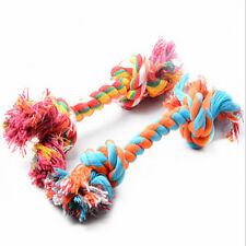 1PC 19cm Pet Chew Knot Toy Cotton Braided Bone Rope Color Puppy Dog