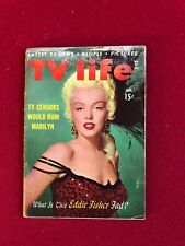 "1954, Marilyn Monroe, ""TV Life"" Magazine, Vintage"