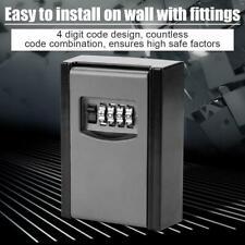 Key Storage Lock Box 4 Digit Wall Mounted Secure Key Lock Outdoor House Keys Box