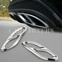 For Benz E Class W212 Rear Exhaust Muffler Tail Pipe Cover Trim 2pcs 2014-2015