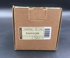 Longaberger McIntosh Apple Candle Jar Brand New in Box