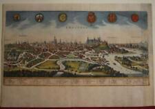 KRAKÓW POLAND 1646 MERIAN UNUSUAL ANTIQUE ORIGINAL COPPER ENGRAVED CITY VIEW
