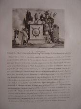 Gravure Colonel François-Louis de Morlan Morland Souilly  Bataille d'Austerlitz
