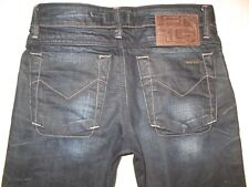 Energie Jeans T-Boy Low Slim Skinny Straight Dark Raw Denim 30 X 29