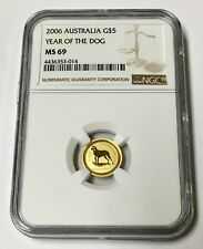 2006 G$5 Australia Lunar Year of the Dog   NGC MS 69 1/20 Gold Coin