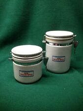 "Kraft ""Miracle Whip"" Ceramic Locking Lid Canisters Set OF 2 -- 6"" & 4 """