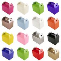 10 Plain Colour Lunch Food Boxes Children Kids Party Wedding Meal Gifts Bags