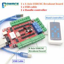 4 Axis USBCNC Nema23 Stepper Motor Breakout Board USB Controller+Hand Controller