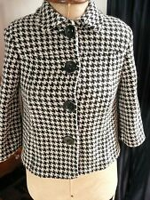 Girls Smart 60s Mod style Dog / Hounds Tooth Check Swing Coat Jacket 12-13