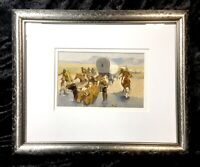 The Emigrants by Frederick Remington Western Indians Art Print Metal Framed