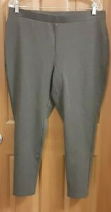 Chico's Gray Pull-On Stretch Pants Activewear Misses Size 3R