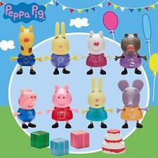 Peppa Pig Friends Fiesta 8 Figura Set-George Suzy Mollie Emily Gerald Richard