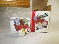 Christmas Porcelain Fitz & Floyd Frosty the Snowman Ornament w original Box