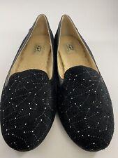 UGG Bentlie Diamond Quilt Natural Swarovski Crystal Shoes Flats Size 10 *NIB*