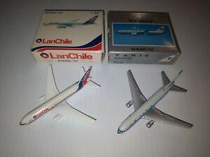 1/600 schabak Lan Chile & Varig Brazil Boeing 767 200 Made in Germany
