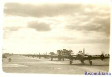 Org. Photo: B-17 Bomber Flightline Lined Up Preparing to Take-Off on Mission!!!