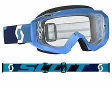 MASCHERA MASCHERINA MX CROSS SCOTT MX GOGGLE HUSTLE BLU ANTIFOG
