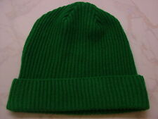 Made in Scotland Beautiful  Lambs wool  Beanie hat   Shamrock