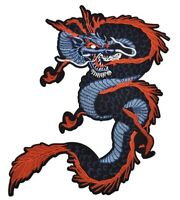 Chinese Dragon Patch (34 cm x 24 cm) Biker Back Embroidered Iron Sew On Rocker