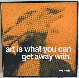 """Andy Warhol Pop Art Quote framed in hardwood 10.25"""" x 10.25"""" LAST 1"""