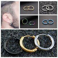 Circle Ear Stud Round Hoop Stainless Steel Tube Earrings Punk Earrings Jewelry