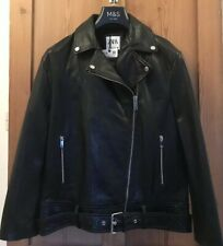 Zara Leather Biker Jacket Size M. Brand New With Tags