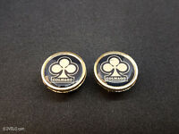 Vintage style Colnago gold Handlebar End Plugs