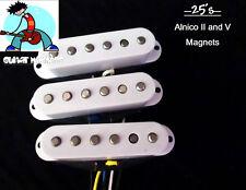G.M. 25's Hybrid Alnico II , and Alnico 5 Magnet Pickups White