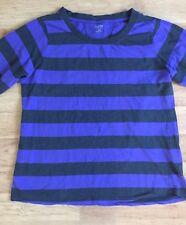 Calvin Klein Womens Knit Top Long Sleeve Purple Gray Striped Plus Size 2X